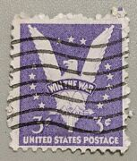 United States 3andcent Used Postage Stamp 1942 - Win The War