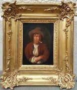 Painting Belgian Portrait Smoker Pipe Style Dutch Utrecht Of Frist See 19th
