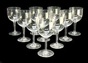 10 Baccarat France Crystal Glass Wine Goblets In Avranches