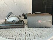 """Vintage Craftsman 6 1/2"""" Electric Hand Saw Mod 207.25530 W/case Tools And Manuals"""