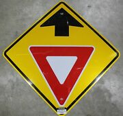 30x30 Yield Ahead Authentic Street Road State Highway Sign Reflective