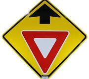 Yield Ahead Authentic Street Road State Highway Sign Reflective 30 X 30