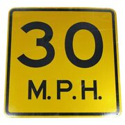 30 Mph Speed Limit Authentic Street Road State Highway Sign Reflective 24 X 24