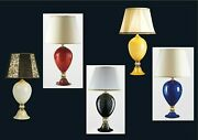 Table Lamp Glass Murano Original Made By Hand In Italy 1 Led With Gold 24