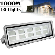 10x1000w Led Flood Light Cool White Superbright Waterproof Outdoor Security Work