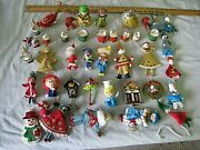 Vintage Christmas Ornaments Large Lot Some Very Old Some W/tags