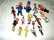 Vintage Christmas Elves Lot Of 15. Year 50and039s/60and039s