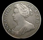 Anne 1707 Silver Crown - Roses And Plumes - Nvf