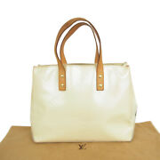 Auth Louis Vuitton M91336 Vernis Reade Pm Small Hand Bag Pearl F/s 19435bkac