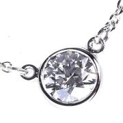 By The Yard Diamond Approx. 0.25ct Pt950 Platinum Necklace Women And039s