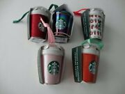 Starbucks Christmas Holiday 2019 2020 Red Pink Iridescent Merry Tumbler Ornament