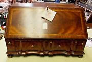 Maitland Smith Marquetry Inlaid Secretary Table Top Slant Front Desk