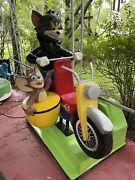 Vintage Tom And Jerry Motorcycle - Sidecar Kiddie Ride Coin Operated, Dallas Tx