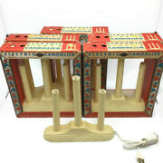 Imperial Electric Candolier Lamps 5 Sets Window Candles Bulbs Box Vintage