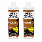 Robelle Super Mineral And Stain Erase Swimming Pool Metal And Stain Remover - 2 Qts.