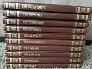 Time-life Books The Old West Series Western Book Lot Of 10 Faux Leather History