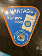1960's Vantage Cigarette Advertising Sign/thermometer 9 X 9 Working