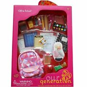 Our Generation Dolls Off To School 24 Piece Accessory Set For 18 Inch Doll
