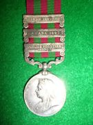 India General Service Medal 1895 V.r. 3 Clasps To A Sepoy 3rd Sikh Infantry