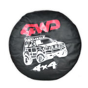 Black 27 Car Auto Spare Wheel Tire Tyre Cover Trim Soft Protector Case 4wd Nt