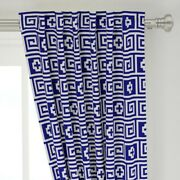Meander Meandros Key Fret Greek Lines 50 Wide Curtain Panel By Roostery