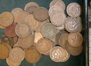 57 Indian Head Cents, Fine To Xf