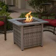 Outdoor Fire Pit Propane Gas 30 Inch Table Cover Backyard Fireplace Patio Heater