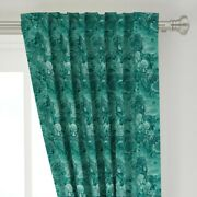 Green Blue Marble Gemstone Mineral Marbled 50 Wide Curtain Panel By Roostery