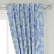 Blue Summer Wave Watercolor Splash Ocean 50 Wide Curtain Panel By Roostery