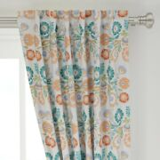 Pastel Floral Folk Art Inspired Polish 50 Wide Curtain Panel By Roostery