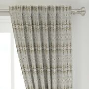 Lace Abstract Vintage Whimsical Antique 50 Wide Curtain Panel By Roostery