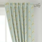 Arrows Geometric Woodland Mint Chevron 50 Wide Curtain Panel By Roostery