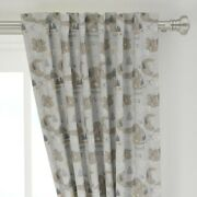 Mountain Map Telescope Camping Hiking 50 Wide Curtain Panel By Roostery