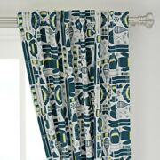 Ski Snow Winter Retro Vintage Sports Skiing 50 Wide Curtain Panel By Roostery