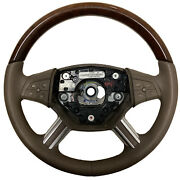 2007 Mercedes Gl450 Oem Brown Wood Steering Wheel With Paddle Button A1644605003
