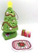 Fisher Price Loving Family Dollhouse Home Holiday Christmas Tree Lot Gifts Rug