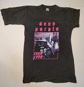 Deep Purple Abandon 1998 Tour Double Sided Black T-shirt One Size Fits All