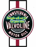 Valvoline And039fand039 Motor Oil Racing Stripe Vinyl Decals Sign Stickers Gas