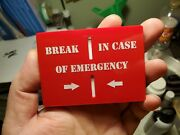 Airsoft Paintball Hiking Camping Survival Emergency Contact Information Biscuit