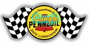 Pennzoil And039dand039 Contour Cut Vinyl Decals Sign Stickers Motor Oil Gas Globes