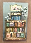 Us 1910 Circa Picture Postcard +books Of The Bible=old And New Testament +rare