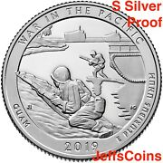 2019 S Guamandrsquos War In The Pacific National Historical Gu 99 Silver Proof Quarter
