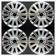 Set 2003 2004 2005 Lincoln Town Car Oem Factory Machined Silver Wheels Rims 3504