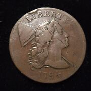 1794 Head Of 1794 S-22 Flowing Hair Liberty Cap Large Cent Choice Vf+ Very Fine
