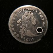 1807 Draped Bust Dime Vf Very Fine Holed Type 10 Cent 10c Dollar Liberty