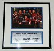 Star Trek Cast Photo Autographed Framed - Paramount Studios Hollywood Posters