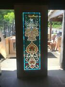 Beautiful Hand Made Stained Glass Victorian Style Entry Door -