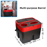 Vehicle Storage Supplies Car Creative Storage Waste With Cover Handle Trash Can