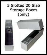 5 High Quality Slotted 20 Coin Slab Safe Storage And Travel Boxes For Ngc And Pcgs
