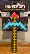 Minecraft Game Transforming Diamond Sword Pickaxe Axe New Scratched